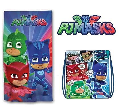 PJ Masks Toalla de Playa + Bolsa de Playa