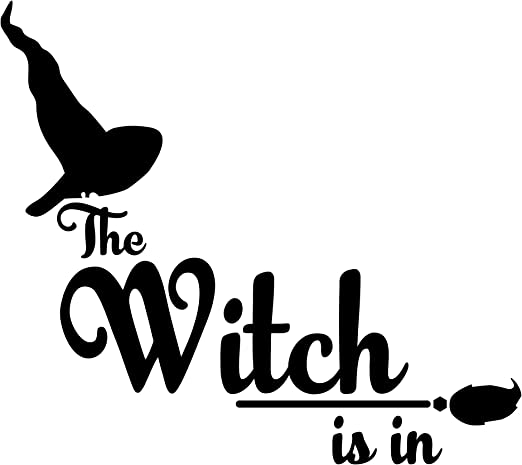 if the broom fits spooky decoration decal funny car decal
