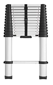 Cosco 20313T1ASE Smartclose Telescoping Aluminum Ladder, (300-Pound Capacity, 12.5 ft. ladder with 16 ft. Max Reach)