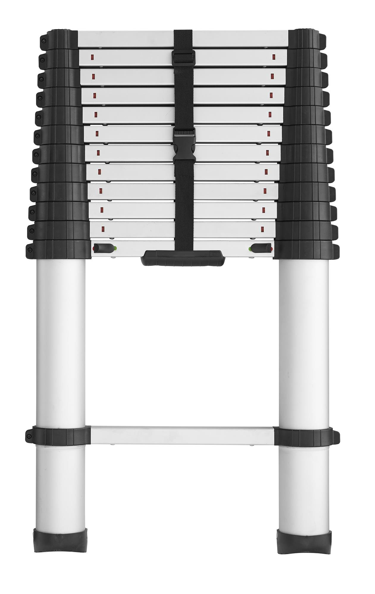 COSCO 20313T1ASE SmartClose Telescoping Aluminum Ladder with Pinch-Free, Soft-Close Locking Mechanism (300-Pound Capacity, 12.5 ft. ladder with 16 ft. Max Reach)