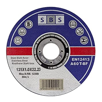 amazing price innovative design vast selection SBS Stainless Steel Cutting Disc 125 x 1.0mm for Cutting grinders - 10 piece