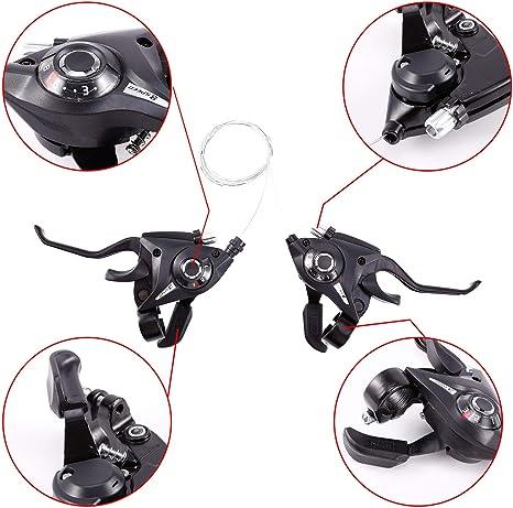 Anladia 2X Cambios de Bicicleta Reguladores de Bicicleta Accesorio para Ajustar Velocidad 7/8 (8 Velocidad): Amazon.es: Deportes y aire libre