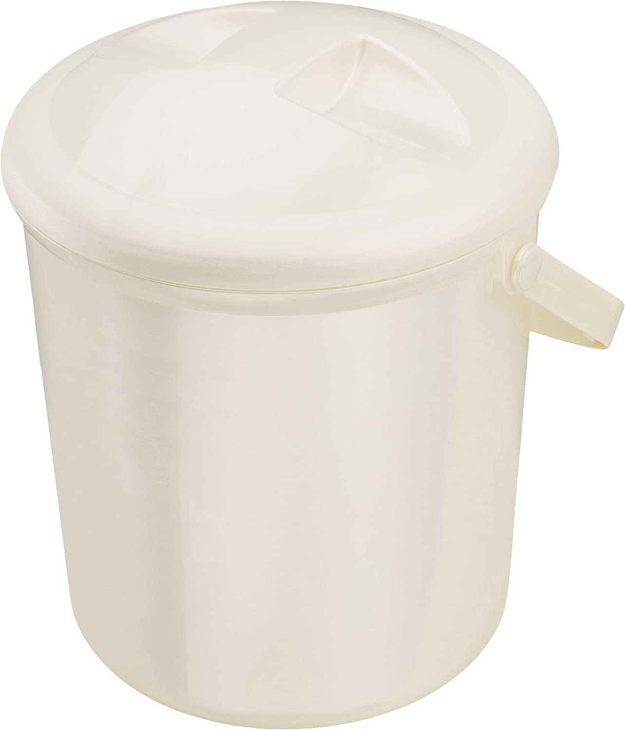Rotho Babydesign Nappy Pail, 10L, From 0 Months, Bella Bambina, Pearlwhite Cream, 200210100 20021 0100
