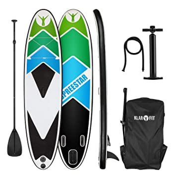 Klarfit Spreestar 325 Tabla de pie Hinchable • Paddleboard • Paddle Surf • Tabla Sup 325x15x86cm
