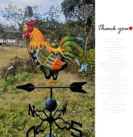 Creative Décoration, coloré traditionnel Coq Girouette, fer Coq Girouette  Décoration de jardin