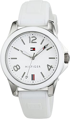 Tommy Hilfiger Women's Casual Sport Stainless Steel Quartz Watch with Leather Calfskin Strap
