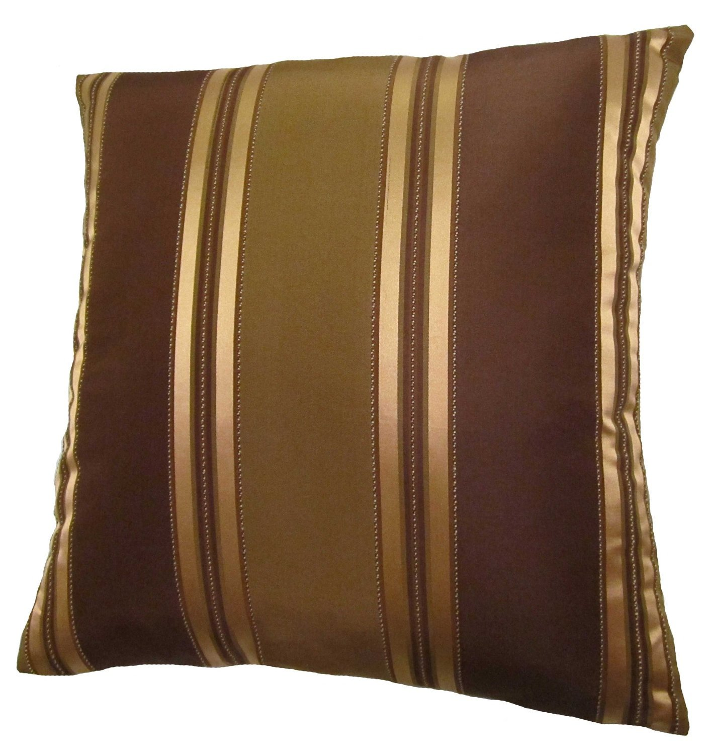 amazoncom x bronze gold and brown stripes decorative throw  - amazoncom x bronze gold and brown stripes decorative throw pillowcover home  kitchen