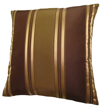 Amazon 40x40 Bronze Gold And Brown Stripes Decorative Throw Amazing Bronze Decorative Pillows