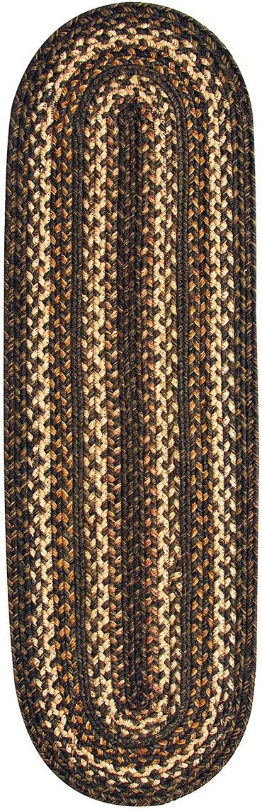 Homespice Oval Table Runner Jute Braided Rugs, 11-Inch by 36-Inch, Kilimanjaro