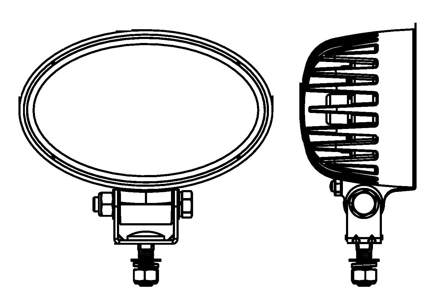HELLA 1GA 357 001-001 Arbeitsscheinwerfer HELLA VALUEFIT für Nahfeldausleuchtung, Anbau, oval, LED, 12V/24V Hella KGaA Hueck & Co.