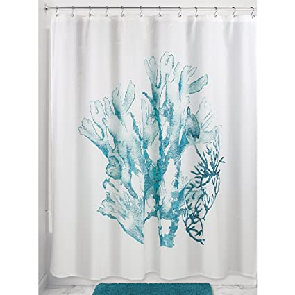 Image Unavailable Not Available For Color InterDesign Coral Fabric Shower Curtain