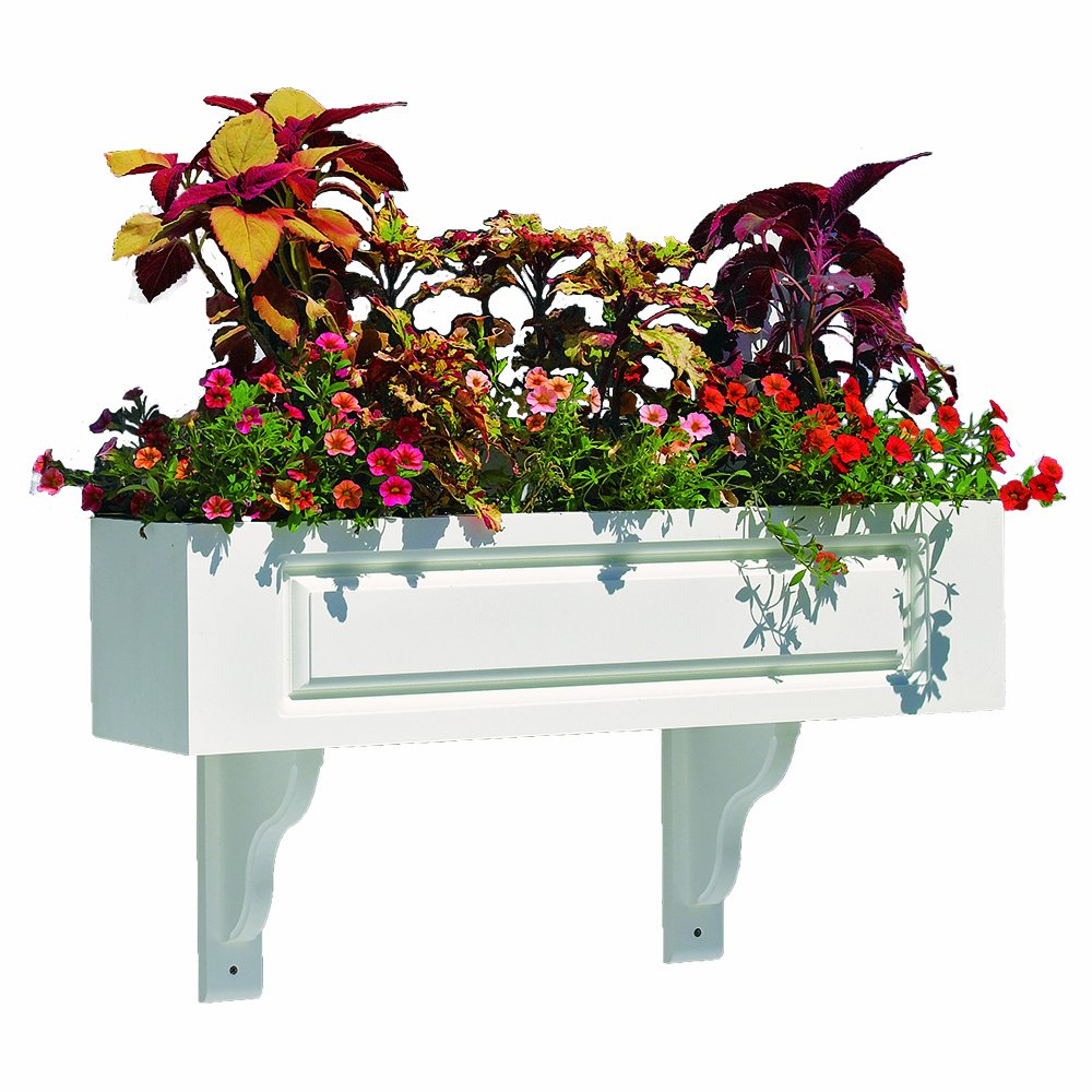 Lazy Hill Farm Designs Hampton Composite PVC Window Box - 36'' (2 Brackets) by Good Directions