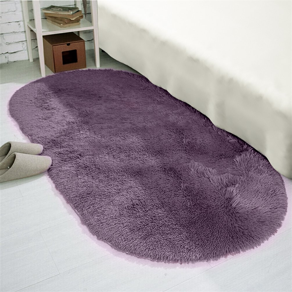 Amazon.com : Moonrug Ultra Soft Fluffy Oval Area Rugs