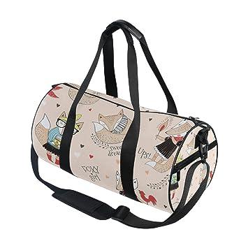 Use4 Cute Fox Animal Girl Travel Duffel Bag Sport Gym Luggage Bag for Men  Women bb34290d51