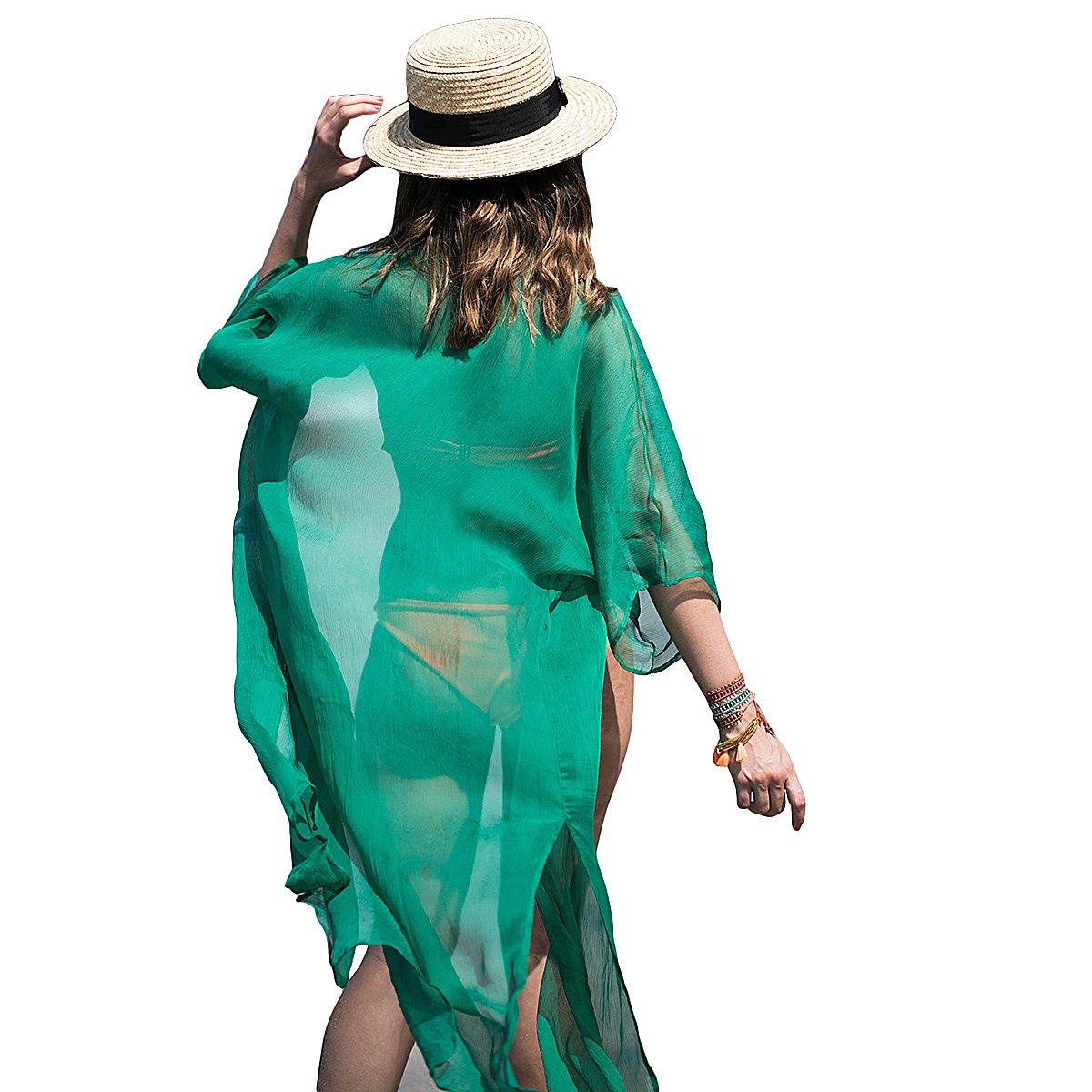0bf0d2b7934cf BESTOYARD Womens Beach Swimsuit Cover Up Swimwear Beachwear Swimsuit Wrap Cover  Up (Green) at Amazon Women s Clothing store