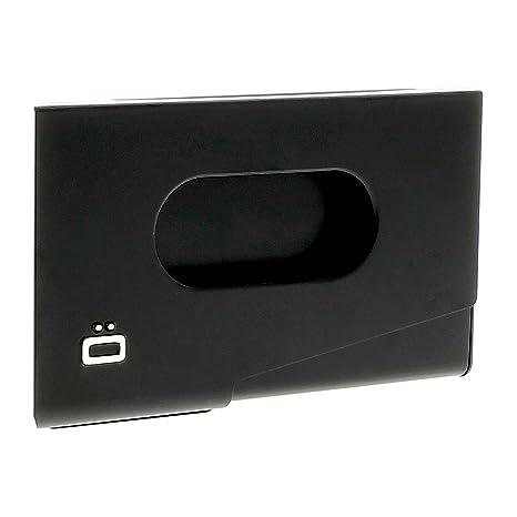 Ögon One Touch dispensador de Aluminio Tarjeta de Visita Plateado Plata: Amazon.es: Equipaje