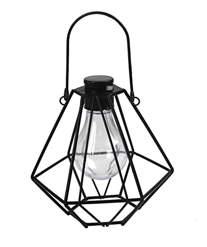 Amazon Com Pearlstar Solar Powered Metal Bird Cage Light Outdoor