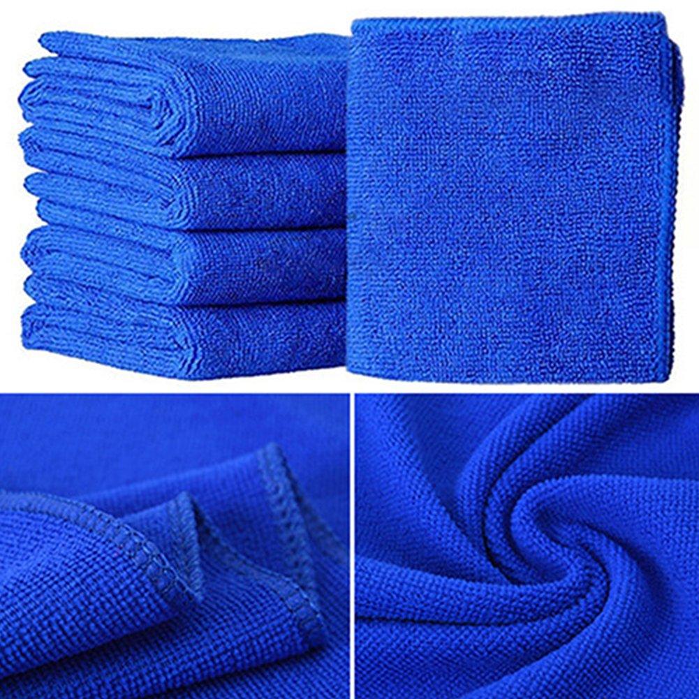 5 toallas de microfibra, suave de secado rápido para la limpieza automática de natación, 25 x 25 cm, color azul: Amazon.es: Hogar