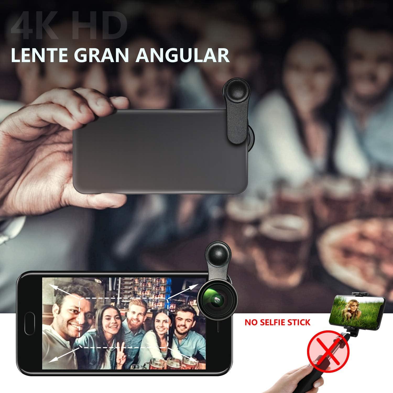 Lente de Cámara para Teléfono, Sin Distorsión Gran Angular de 0,6X ...