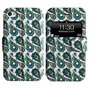 LEOCASE Asombroso De Las Flores Funda Carcasa Cuero Tapa Case Para Apple iPhone 4 / 4S No.1000305