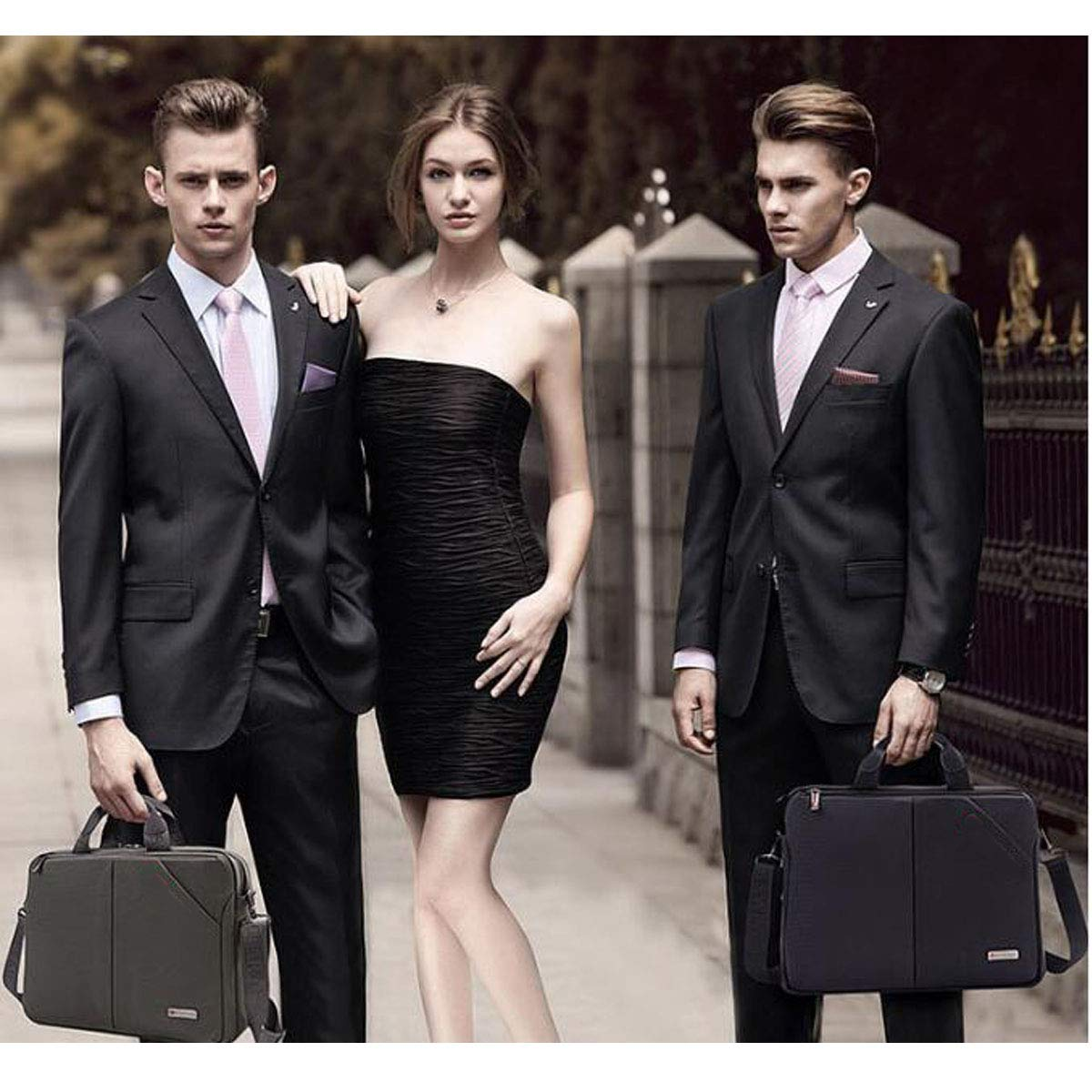 Large Capacity Business Mens Bag Custom Briefcase Size: 381030cm