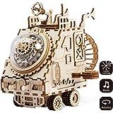 Robotime de corte de láser de madera de rompecabezas-DIY mecanismo de música de caja de madera modelo de construcción de cumpleaños y regalos de Navidad para niños y adultos (Space Vehicle)