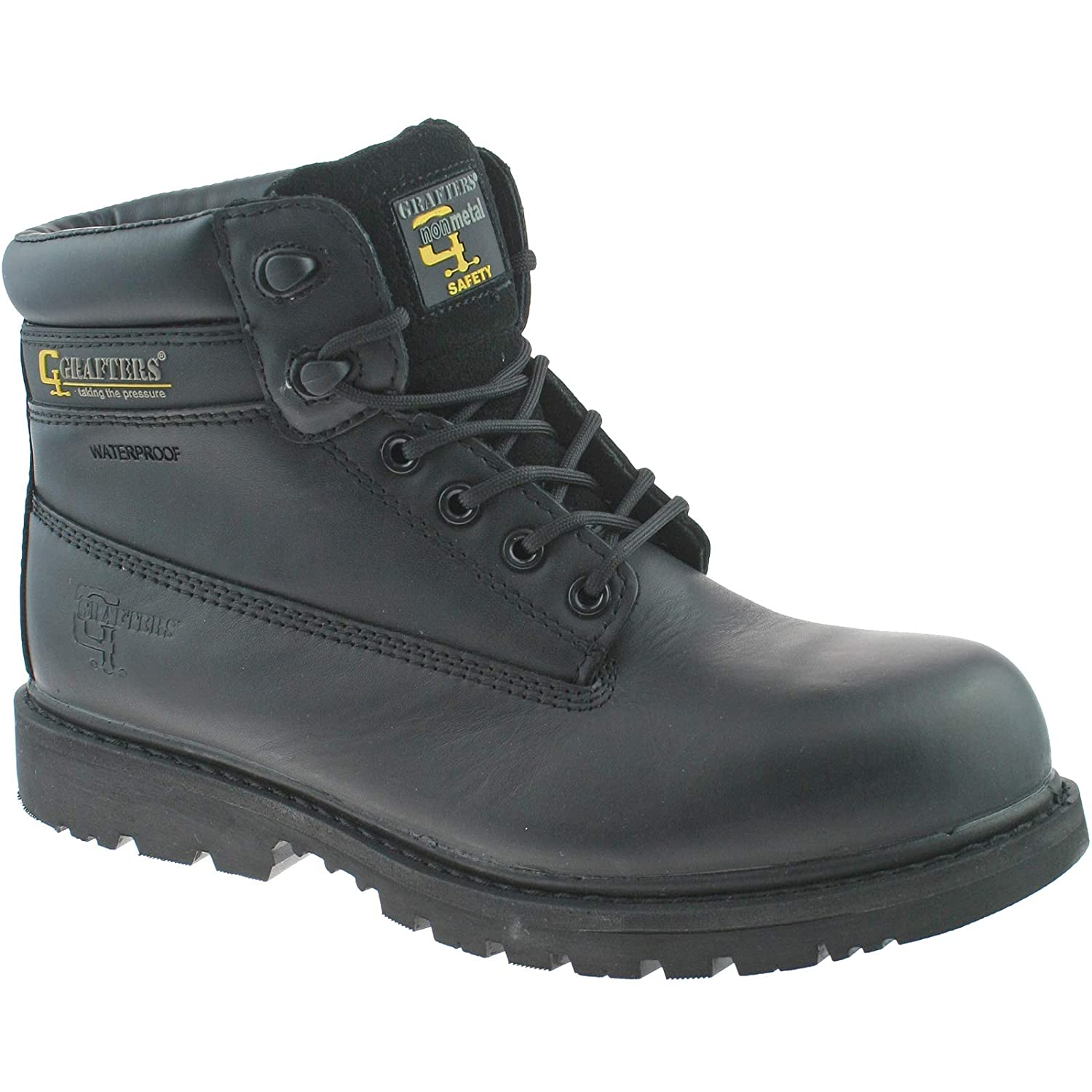 GRAFTERS NON METAL WATERPROOF SAFETY BOOTS SIZE UK 6 13