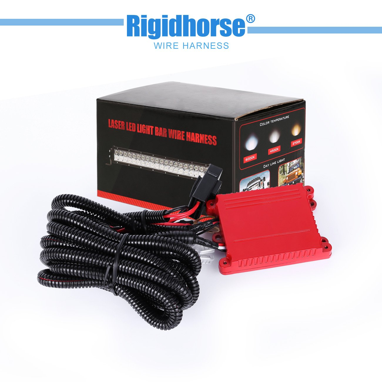 Light Bar Wiring Harness Rigidhorse Remote Control Accessories Kit For Multi Color Led