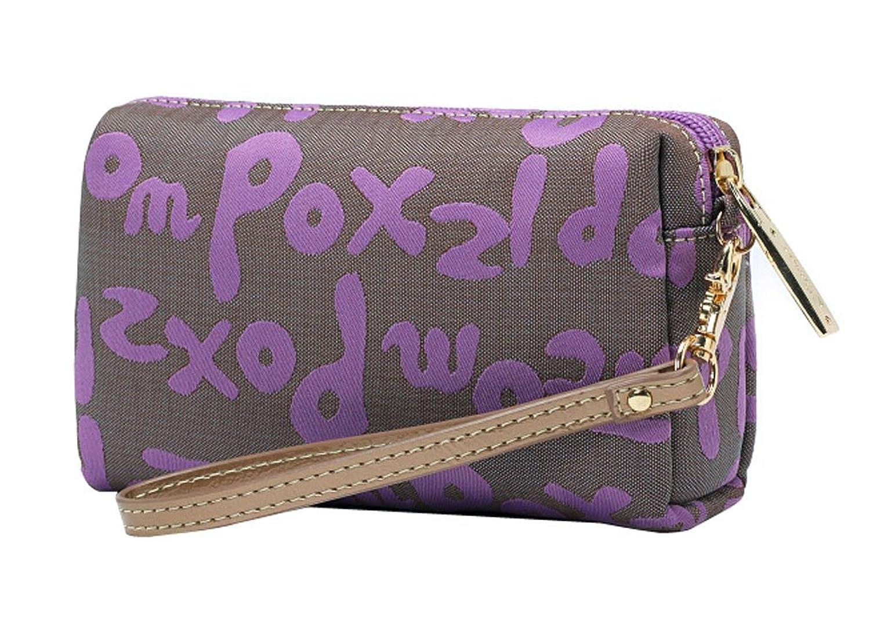 Smart Casual Clutch Bags Canvas Clutch Handbags Design For You PURPLE