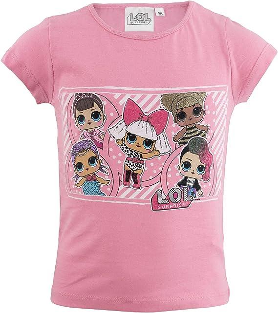 MGA L.O.L. Surprise!! - T-Shirt Camiseta - para niña - SE629X [Rosa - 5 Anni - 110 cm]: Amazon.es: Ropa y accesorios