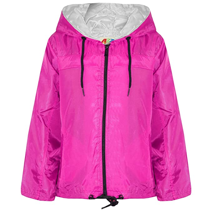 Buy Authentic clear-cut texture clear and distinctive Amazon.com: Kids Girls Boys Pink Hooded Raincoats Cagoule ...