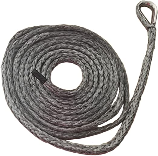 "Black 1//4/""*10ft ATV Snow Plow Lift Rope,Synthetic Winch Cable,ATV Winch Rope"
