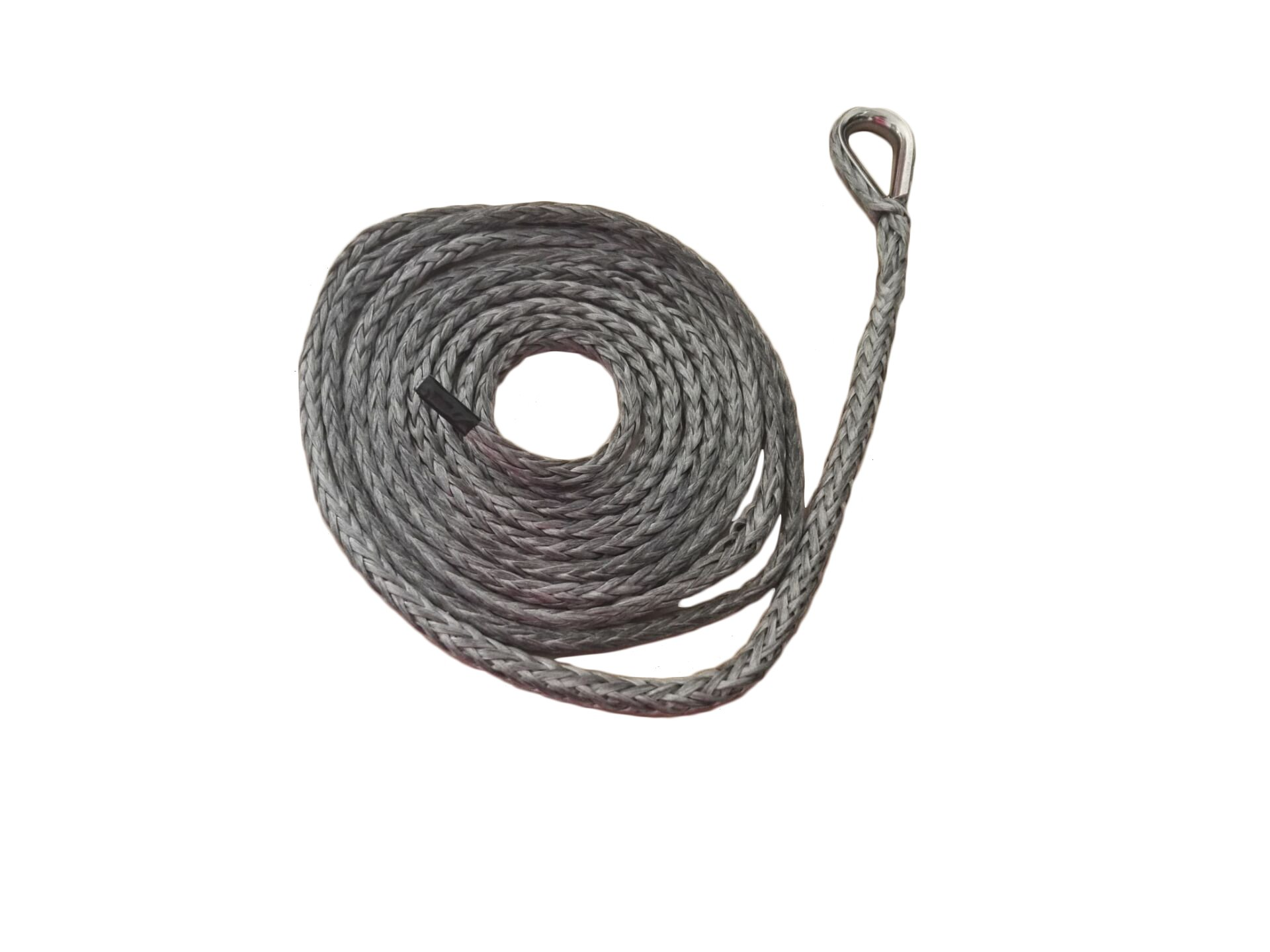 1/4''10ft ATV Snow Plow Lift Rope,Synthetic Winch Rope,Boat Winch Cable,Snow Plow Attachments (Grey)