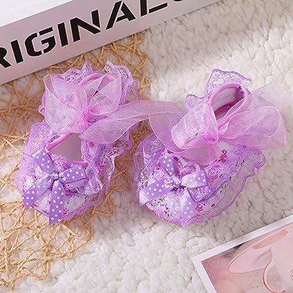 ❤ Zapatos de Encaje Floral recién Nacido,Baby Girl Soft Shoes Soled Print Bowknot Calzado Cuna Absolute: Amazon.es: Ropa y accesorios