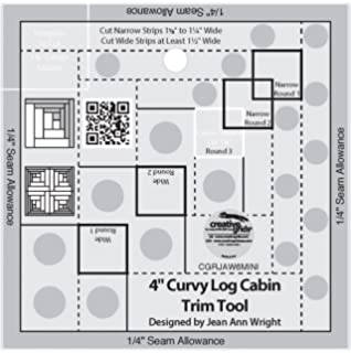 amazon com bundle of creative grids curvy log cabin trim tool 6in