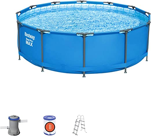 Bestway 56418 - Piscina Desmontable Tubular Steel Pro Max 366x100 ...