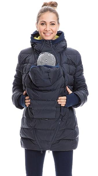 Fang Repliken Vielzahl von Designs und Farben GoFuture Damen Tragejacke für Mama und Baby 4in1 Känguru Jacke  Umstandsjacke Daunen Winter Noorvik GF2318