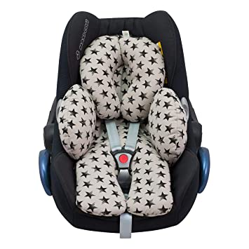 2-in-1 Infant CarSeat headrest Insert cushion Soft Head Support Pillow Cushion for Strollers Swings Pink AIPINQI Baby Head Support for Car seats