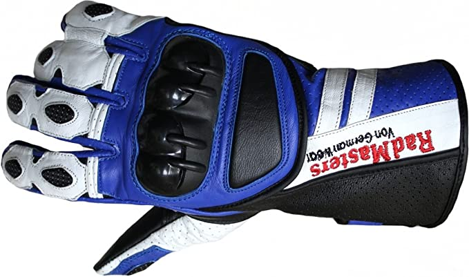 German Wear Motorradhandschuhe Motorrad Biker Handschuhe Lederhandschuhe Größe 11 Xxl Farbe Blau Auto