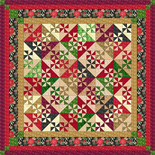 Easy Quilt Kit Christmas Pinwheels 2015/Queen size by Material Maven