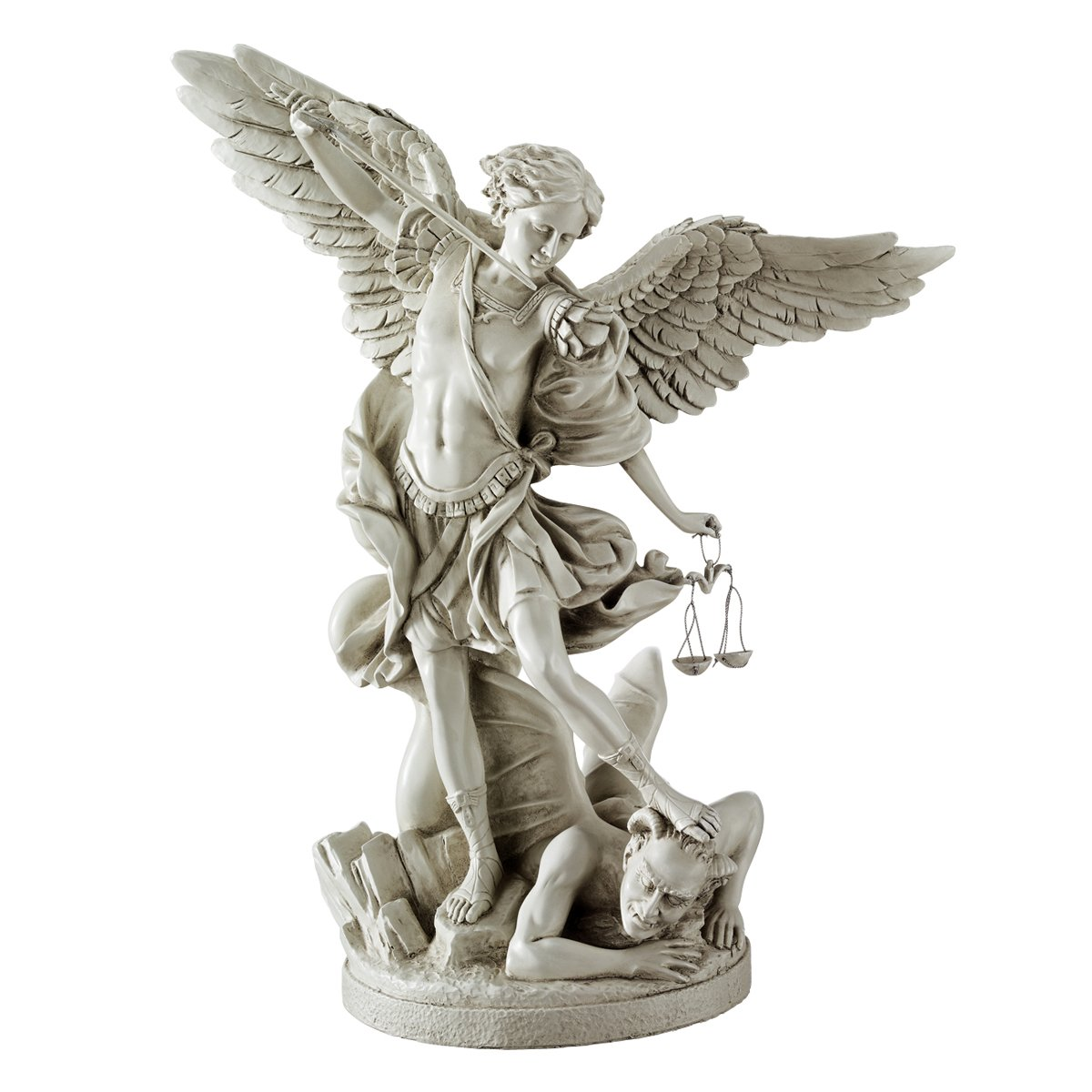 amazoncom design toscano bonded marble st michael the archangel angel statue home u0026 kitchen