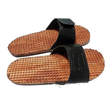 c23507e06af Wooden Foot Acupressure Slipper Massager