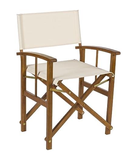 Conjunto de 2 sillas plegables de cineasta, estructura en ...