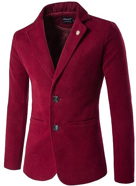 Desconocido WS668 - Abrigo - Blusa - para Hombre Rojo X-Small: Amazon.es: Ropa y accesorios