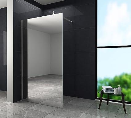 10 mm cristal de espejo Aquos FX-Mirror – Mampara de ducha 140 x ...