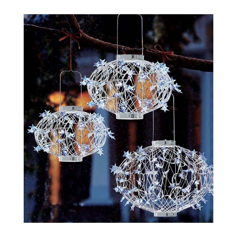 White Solar Star Lanterns