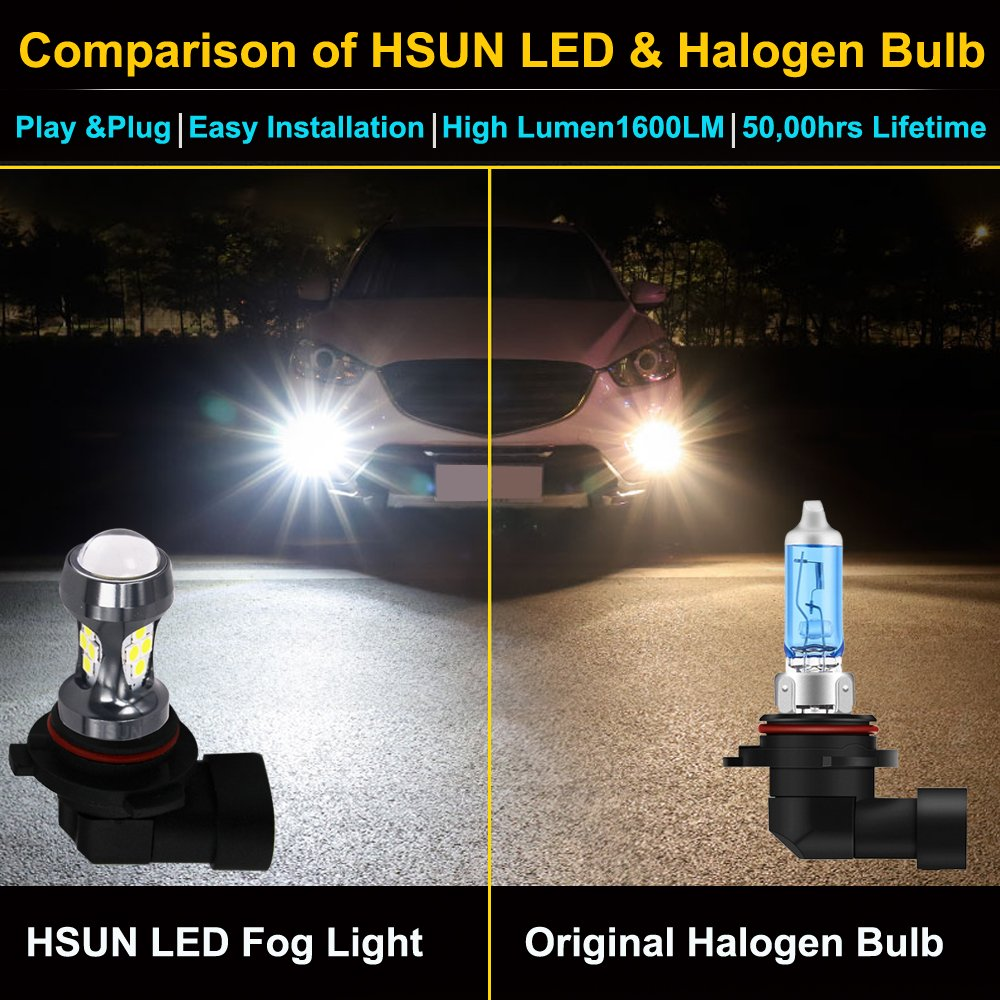 Hsun 9006 Hb4 Led Bulbs16leds Smd3030 Chipsets 3200 Kia Sedona Parts Diagram Http Wwwkiapartsoverstockcom Showassembly Lumens Extremely Bright For Car Fog Light Bulbs Lampdaytime Running And More2