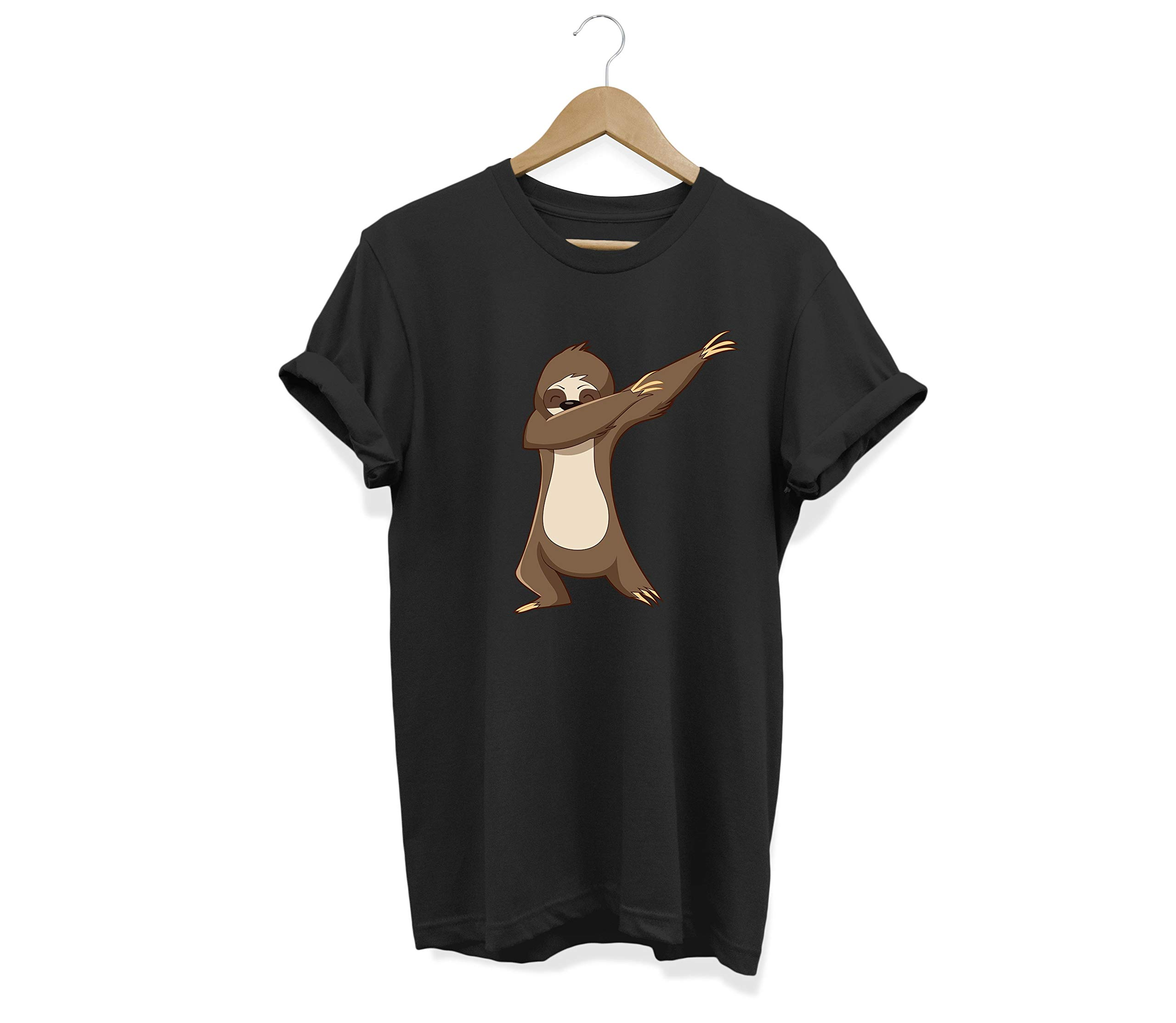 Weezag Sloth Tee Shirt For Men Women Boys Girls, Dabbing Gifts For Sloth Lovers -
