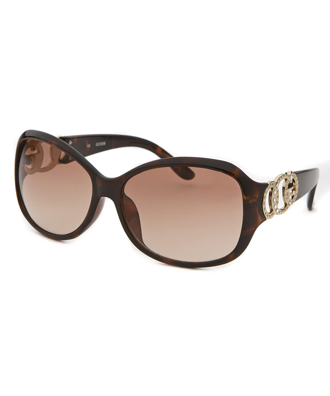 0ace552825 Amazon.com  Guess Women s Rectangle Sunglasses - Tortoise  Clothing