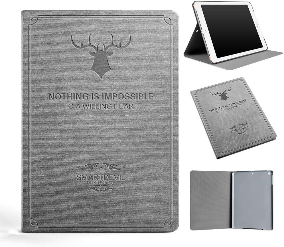 SmartDevil Funda Compatible iPad Air 2, Contraportada Dura, Carcasa con Auto-Sueño/Estela, Gris